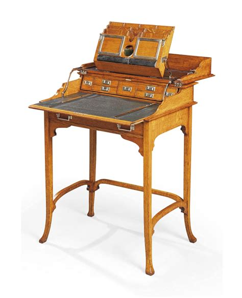 An Arts And Crafts Oak Campaign Travel Desk Circa 1910 Travel Desk For