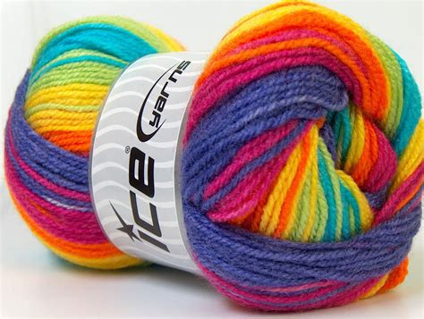 Benang Rajut Katun Rainbow benang rajut impor baby pelangi 19 crafts