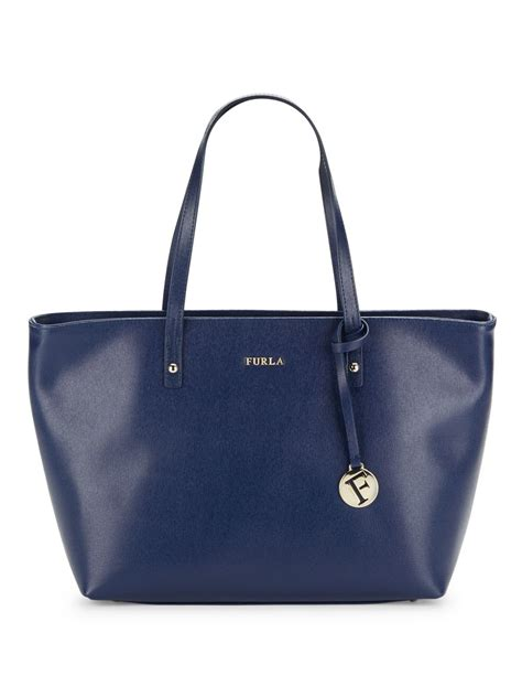 Furla Tote Bag furla saffiano leather tote bag in blue navy save 55 lyst