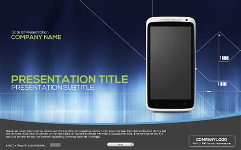 powerpoint themes slideshare mobile powerpoint template