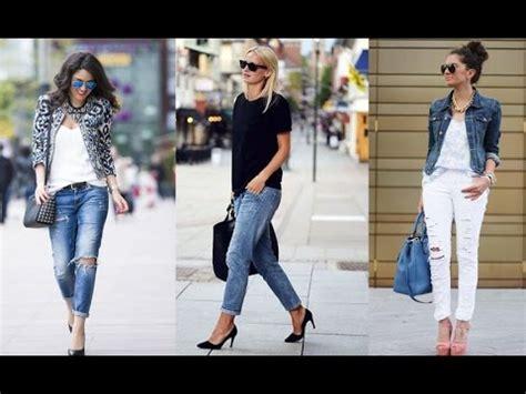 moda de jeans de damas 2016 moda 2018 outfits con jeans damas youtube