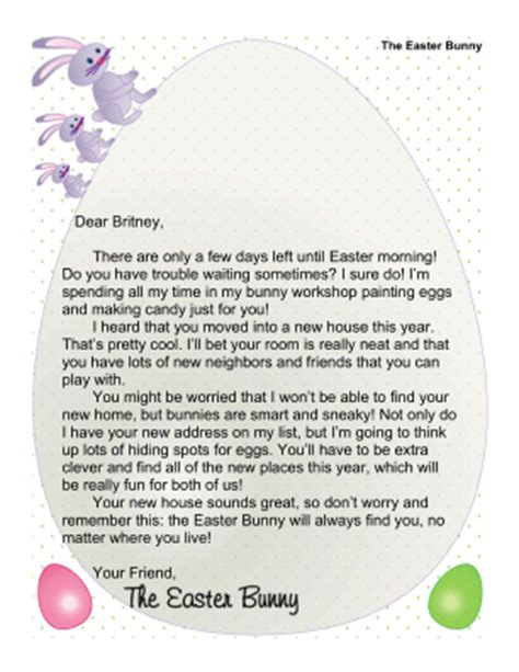 free printable letters from the easter bunny letters from the easter bunny crafts and coloring pages
