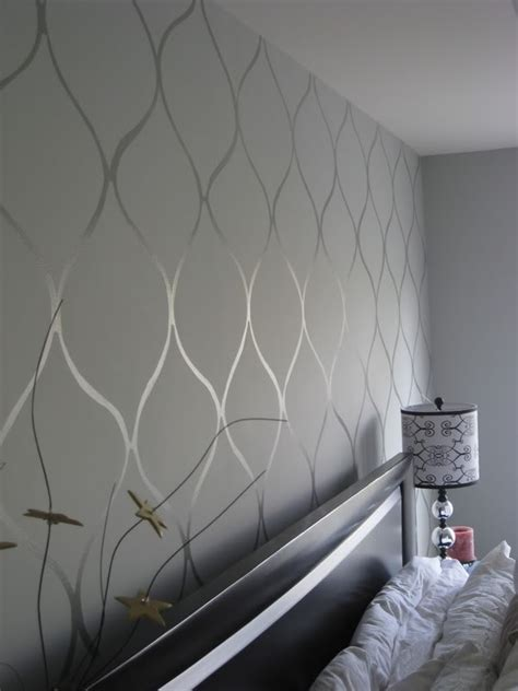 wall paint patterns for bedrooms use gloss and matte to create neat wall patterns painted
