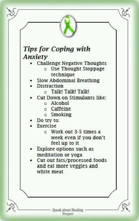7 Tips On Coping With A Loved Ones by Tips For Coping Battling The Anxiety Beast