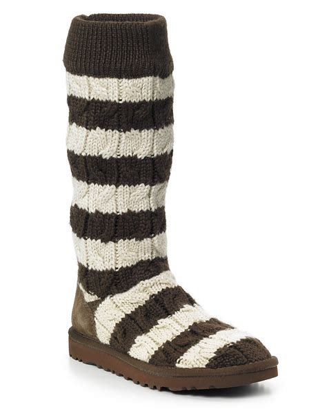 ugg cable knit boots ugg 174 australia classic stripe cable knit boots