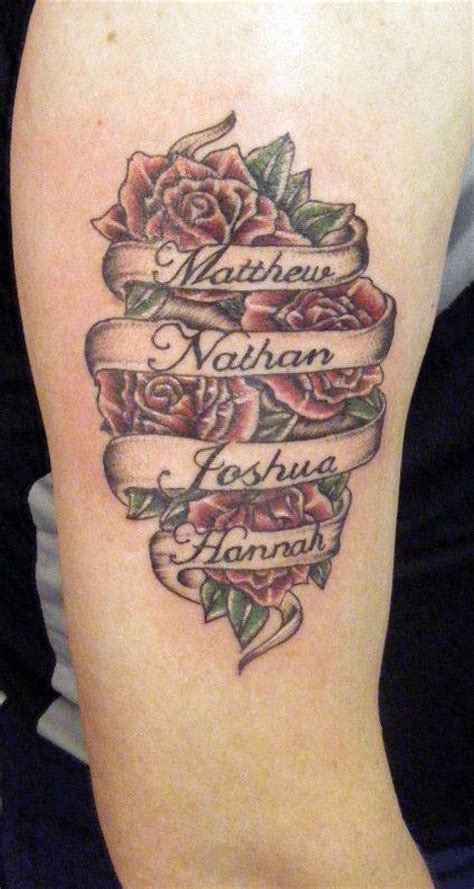 rose tattoos with names 45 creative banner tattoos ideas designs for