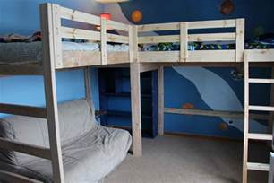 Loft And Bunk Beds Loft Bunk Bed Plans Bed Plans Diy Blueprints