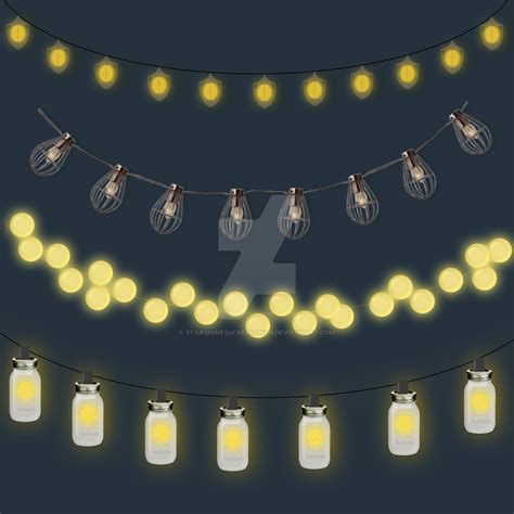 Outdoor String Lights Clipart by starshinesuckerpunch on