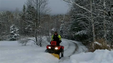 honda rancher snow plow honda rancher 420 snow plowing review