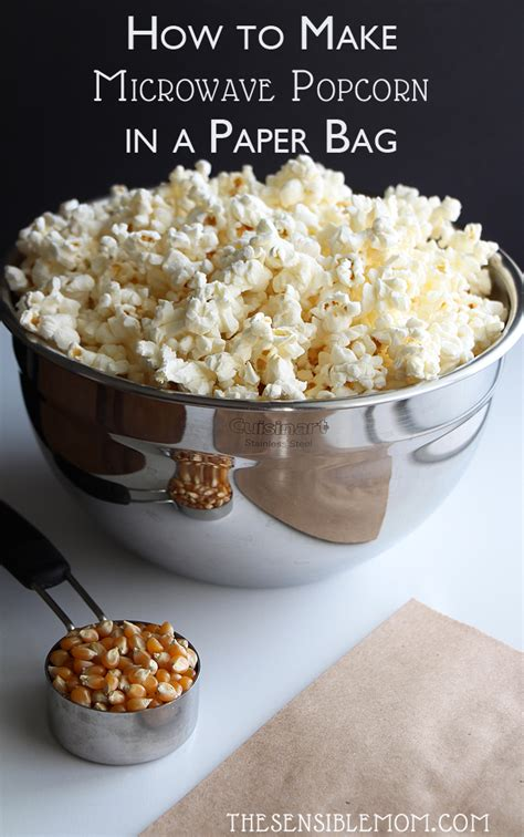 Make Popcorn In A Paper Bag - how to make microwave popcorn in a paper bag recipe
