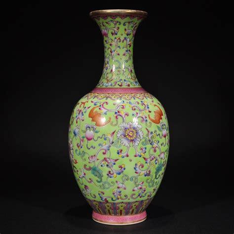 Qianlong Vase by 51bidlive Qianlong A Famille Vase