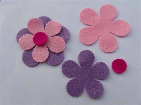 fiori di pannolenci come farli set 2 fiori fiore completi feltro porta foto cornice