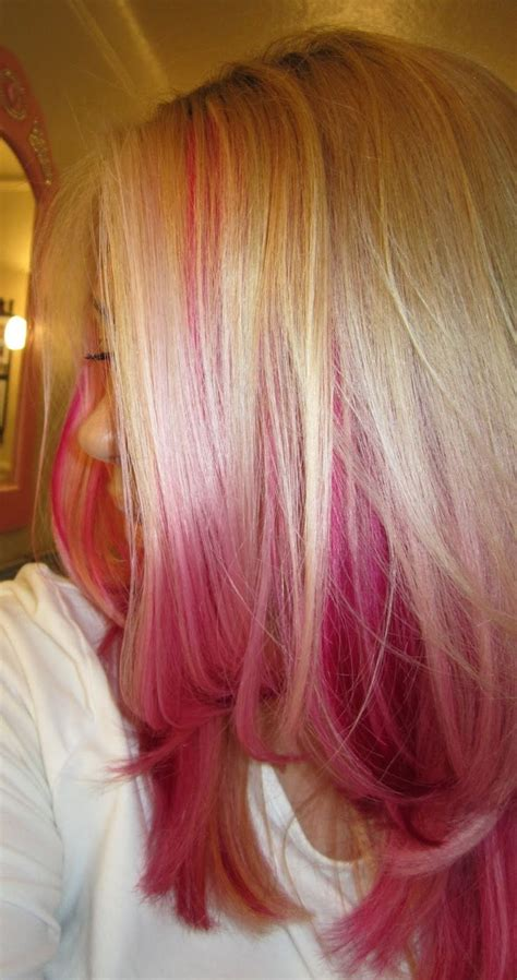 long hairstyles with color underneath the 25 best pink peekaboo hair ideas on pinterest
