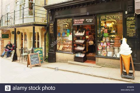 chocolate cafe and tea room cafe tea rooms and a chocolate shop at robin hoods bay near whitby stock photo royalty free