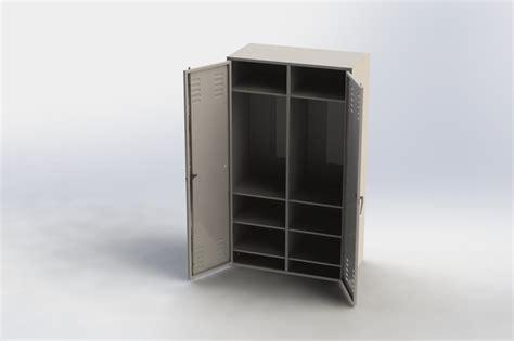 wardrobe locker step iges solidworks 3d cad model