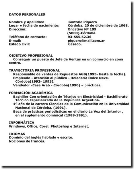 Modelo Curriculum Vitae Uruguay Aprendemos Y Ense 209 Amos Todos Los D 205 As Un Poco M 193 S Ejemplos De Curriculum Vitae