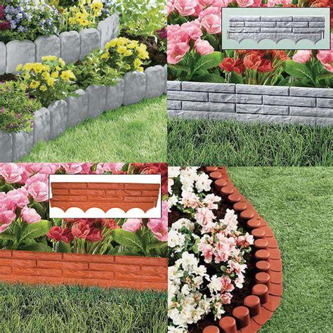 Flower Garden Edging Garden Border Lawn Edging Plastic Flower Bed Hammer In Path Edge Fence Ebay