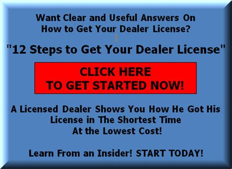 where to get license how to get a dealer license without a car lot