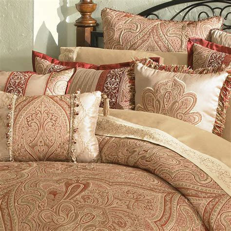 castille 4 piece queen size comforter set contemporary