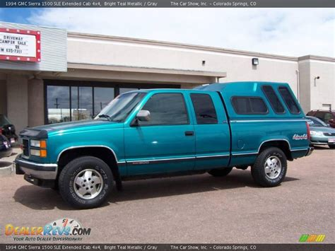 1994 gmc 1500 4x4 1994 gmc 1500 sle extended cab 4x4 bright teal