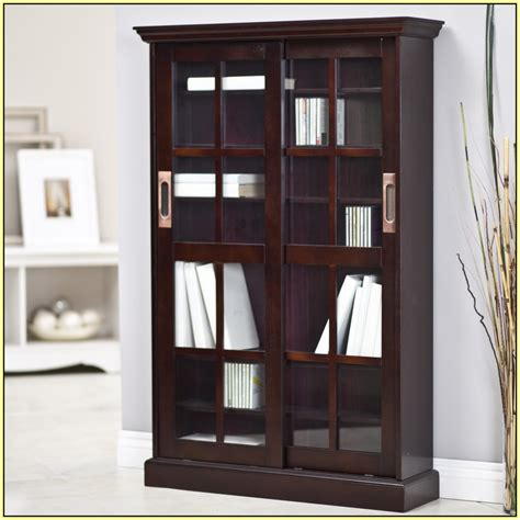 small bookcase with doors door design