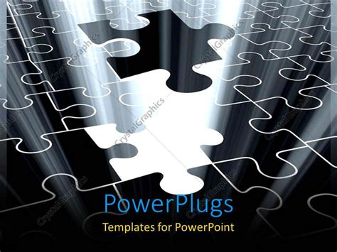 powerpoint template jigsaw puzzle piece falling with powerpoint template jigsaw puzzle piece falling with
