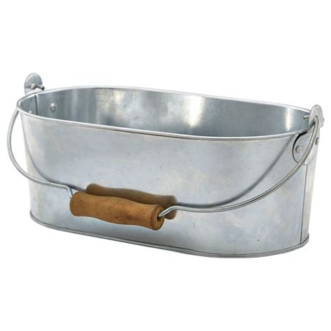 Table Caddy by Galvanised Steel Oval Table Caddy At Drinkstuff