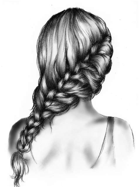 beautiful hairstyles drawing joliment noir et blanc dessin fille cheveux image