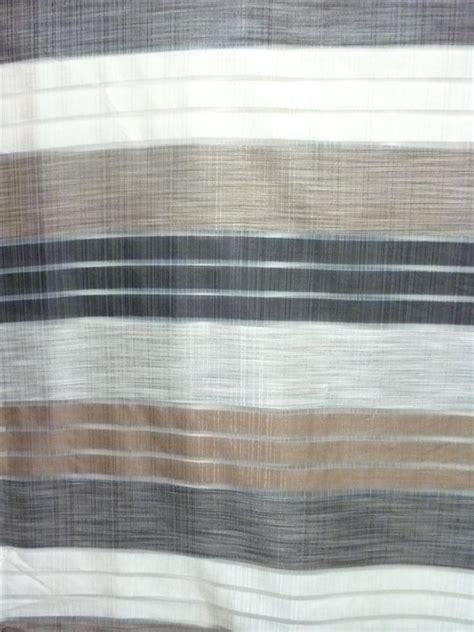 vorhang grau gestreift deko stoff gardine vorhang breit gestreift braun beige