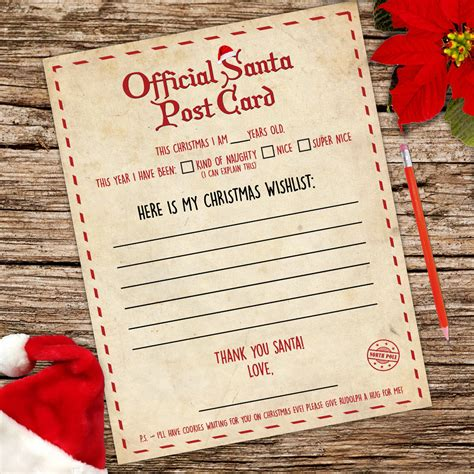 free printable letters from santa ireland santa claus letter a4 stationery writing paper instant