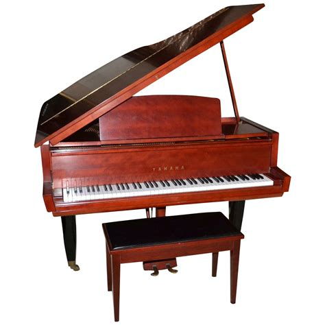 grand piano bench 1962 rare museum quality yamaha 5 2 quot red baby grand piano