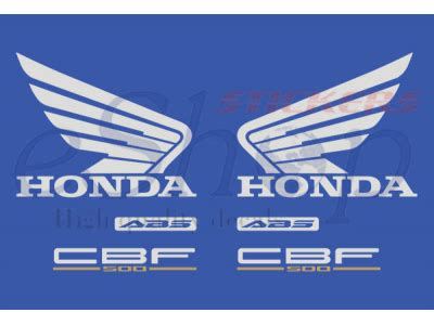 Aufkleber Honda Cbf 1000 by Cbf 500 2004 2005 Set 1 Eshop Stickers