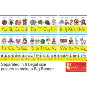 Hooked Rugs Classroom Decoration Abc Alphabet Banner Sign Educents