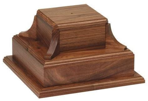 large wooden l base wood and marble bases