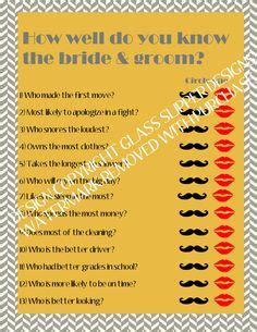 bridal shower how well does the each other diy bridal shower how well do the and groom each other hilarious questions for