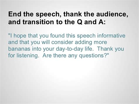 End Of Outline by How To Write A Speech Outline