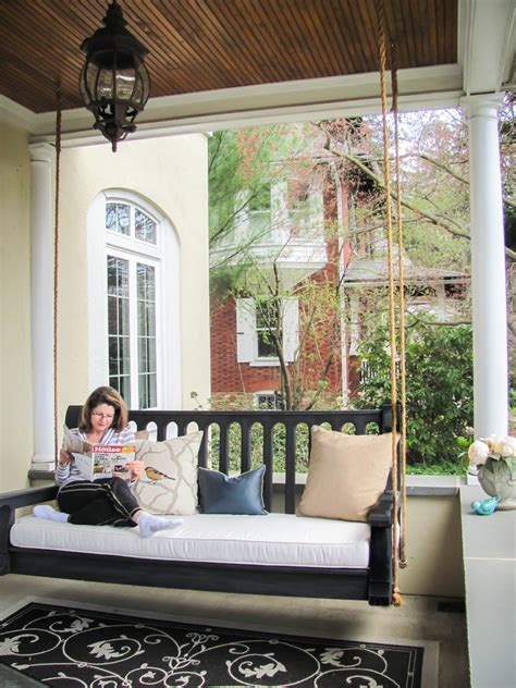 front porch bench swing gorgeous porch swing cushions in porch traditional with