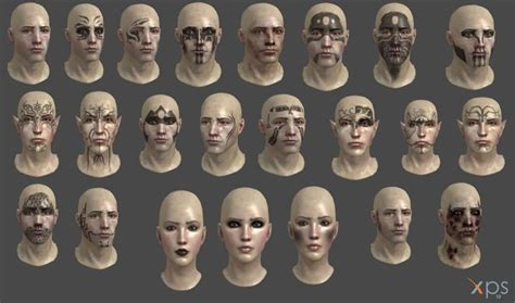 dragon age origins all face textures and tattoos by