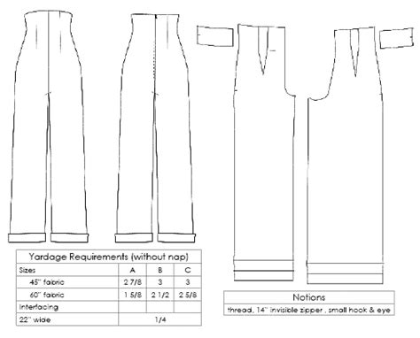 trouser pattern making pdf 1940s empire waist trousers for classic katharine hepburn