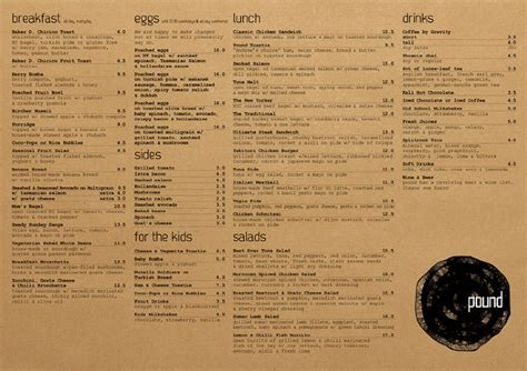 woolworths cafe design quarter menu pound caf 233 we create