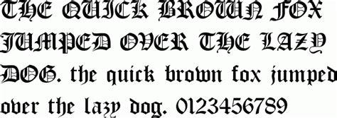 tattoo font producer old english tattoo fonts