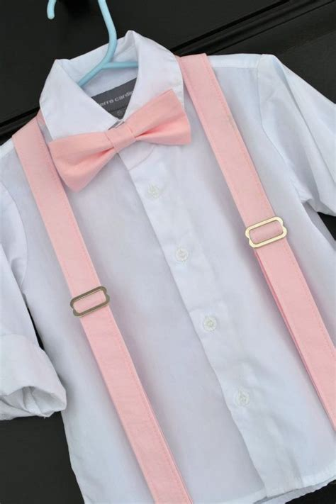 light up bow tie and suspenders bowtie and suspenders solid light pink peony blush