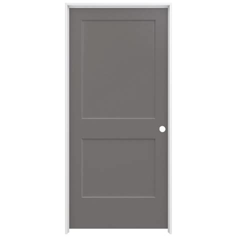 Jeld Wen Closet Doors Jeld Wen 36 In X 80 In Smooth 2 Panel Weathered Solid Molded Composite Single
