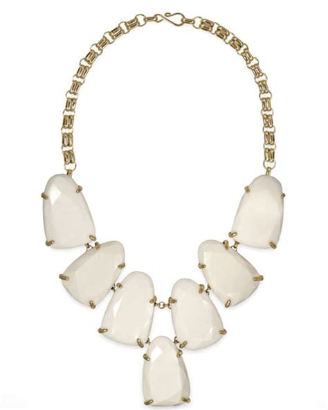 kendra harlow necklace white