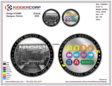 Pax South 2017 Challenge Coin Ordering Closed Penny Arcade Powerpoint Challenge Coin Template