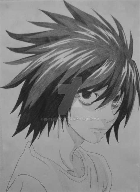 L Lawliet - Ryuzaki VIII by Rheehemoth on DeviantArt L Death Note Drawing