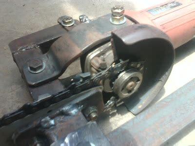 Mesin Gergaji Senso chainsaw material yang digunakan