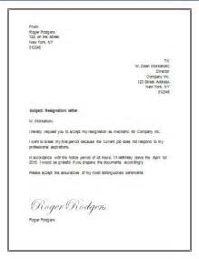 Resignation Letter Wording by Resignation Letter For A Trial Period Resignation Letter