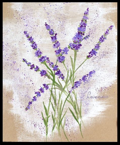 lavendar paint how to paint lavender flowers with any kind of watercolor