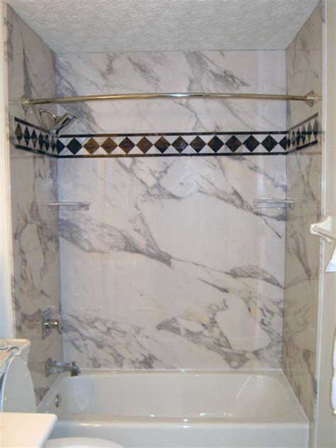 Bathtub Shower Wall Panels by Designer Tub And Shower Walls Panels Faux Marble